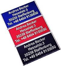 Schilder mit hochwertiger Lasergravur Drohnen Plakette Drohnen Kennzeichen Namensschild 20x10mm, Gold Andrea Becker Onlinehandel Adressschild Multicopter Kennzeichnung