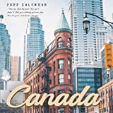 """Canada 2022 Calendar: 12-month Calendar - Square Small Gorgeous Calendar 8.5x8.5"""" for planners with large grid for note"""