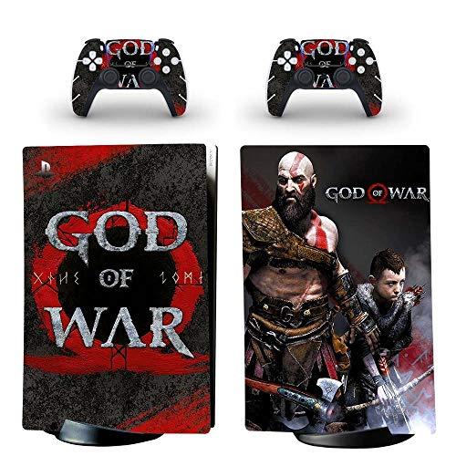 God of War PS5 Digital Edition Skin Sticker Cover für Playstation 5 Konsole und Controller PS5 Skin Vinyl Yspfd0199