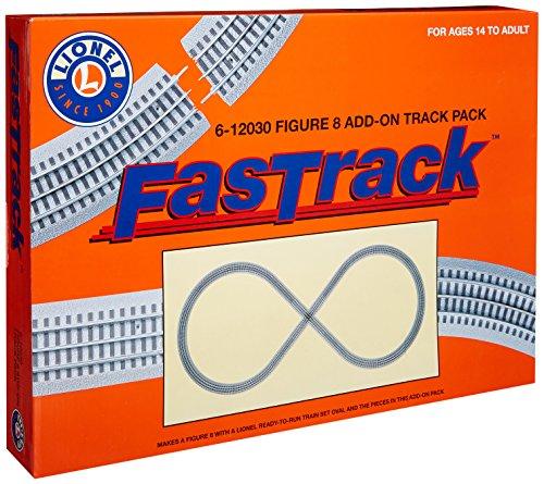 Lionel FasTrack Figure-8 Add-On Track Pack, Electric O Gauge
