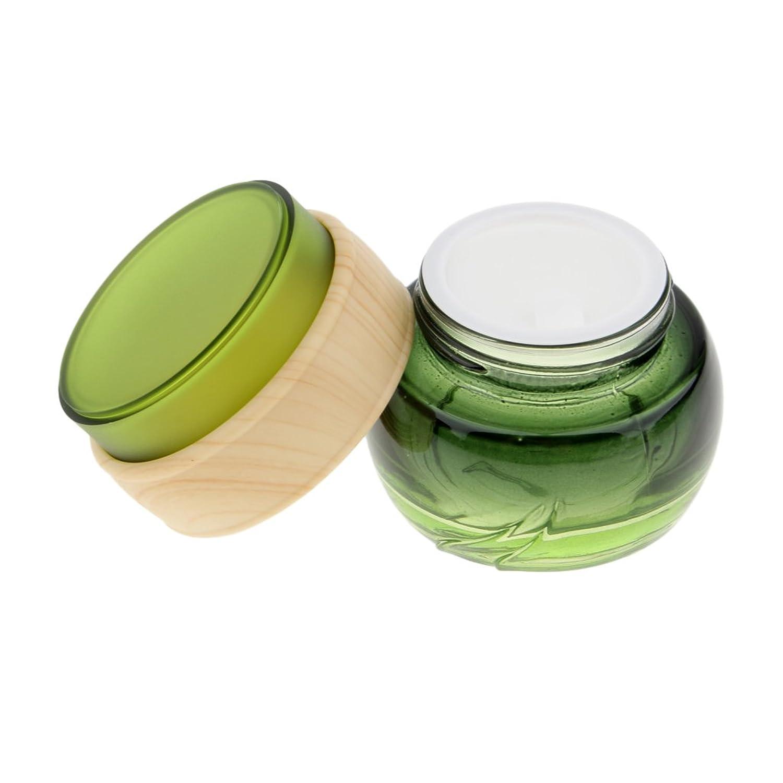 Kesoto メイクアップボトル ガラスボトル  詰替え容器 クリーム ポンプ ボトル 収納ケース 4サイズ選べ - 50ミリリットル