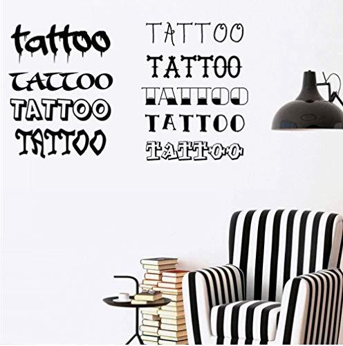 Vinile Art Deco Tattoo Shop Sticker Tattoo Shop Wall Art Tattoo Studio Sticker Tattoo Shop Decorazione 99 * 57Cm