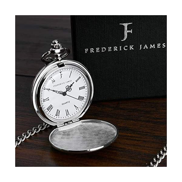 Father of The Groom Gifts – Engraved Father of The Groom Pocket Watch – The Luxury Wedding Gift Choice