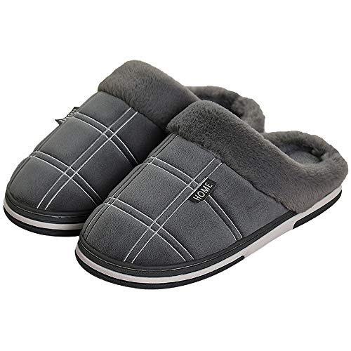 Men's shoes Zapatillas mullidas de Gran tamaño para Hombres, Zapatos cómodos Antideslizantes para Interiores y Exteriores, Zapatos cálidos de algodón de Suela Gruesa