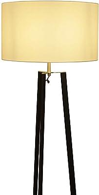 Clásico Lámpara de Pie con Pantalla Tela Bronce | Lámpara de ...