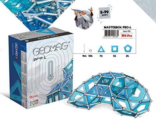 GEOMAG Masterbox Pro-L 178 - Magnetstangen Spielzeug - 396-teilige Box