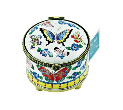 Kelvin Chen Enameled Postage Stamp Holder - Butterflies