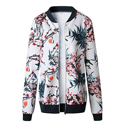 Adelina Outwear Damesjack, winterjas, parka, dames, winterjas, herfst, dames, modieus, retro, bloemen, rits, up, bomberjack, mantel casual outwear
