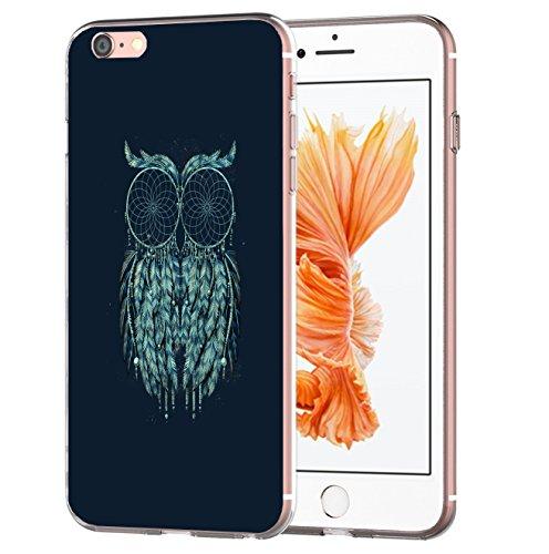 blitzversand Handyhülle Mandala kompatibel für Samsung Galaxy S4 Mini Eule Black Schutz Hülle Case Bumper transparent M6