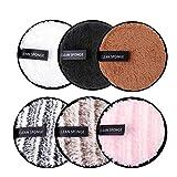 Almohadillas desmaquillantes reutilizables de algodón Paños para la cara Ojos Rondas de doble cara lavables Toallas suaves limpieza facial Toallas de microfibra para desmaquillar todo tipo de piel