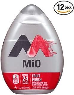 MiO Liquid Flavored Water Enhancer, Fruit Punch, 1.62 Fl. Oz Bottle - Pack of 12