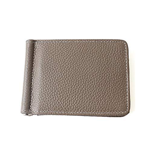 [アビアントセレクト] マネークリップ レディース 財布 カードケース パスケース 二つ折り財布 ミニウォレット ブラウングレー