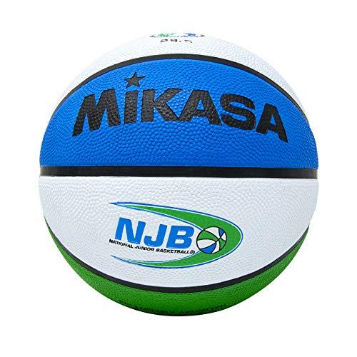 Mikasa Nacional de Baloncesto Juego Oficial Infantil con Cubierta de Goma, BX1000NJB, Official Size and Weight