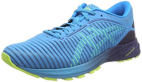 Asics Dynaflyte 2, Zapatillas de Running para Hombre, Azul (Island Blue/Safety Yellow/Indigo Blue 4107), 39 EU