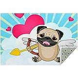 Marlon Kitty Tappeti di Area Carinissimo Pug Dog Morbido Tappeto Grande Tappeto Antiscivolo Tappeto da Gioco