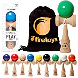 kendamaeurope Play Pro II K Competition Standard Kendama & Firetoys® Tasche mit Kordelzug. mehreren Farben erhältlich., Orange