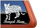 Bengal Mom Cat Vinyl Window Decal Sticker
