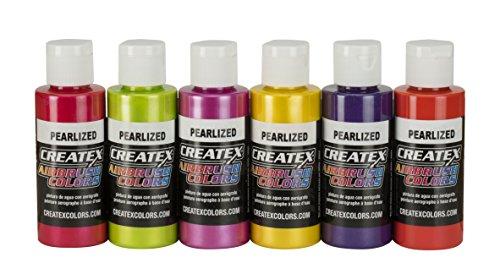 Createx Colors 5811-00 Pearl Sample Airbrush Set, 2oz.