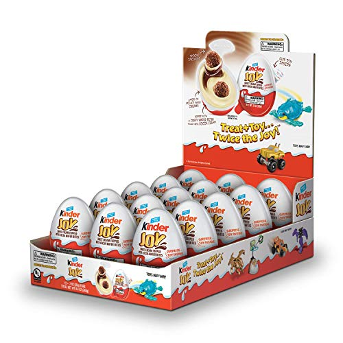 Kinder JOY Eggs, 15 Count Individually Wrapped Chocolate Candy Eggs With Toys Inside, Perfect Surprise for Kids, 10.5 oz; PACKAGING MAY VARY