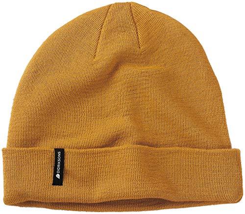 Didriksons Muetze Beanie Knopp Youth Hat gelb elastisch wärmend Unifarben (one-Size)