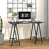 DEVAISE Computer Desk, 47' Office Desk, Writing Desk for Home Office, Dark Gray