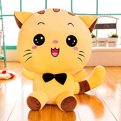 AYQX Creativo Lindo Gato de Peluche de Juguete muñeca de Piel Suave Animal niño niño Adulto Juguete de Peluche Almohada para Dormir decoración Familiar niña 35 cm yellowsmile
