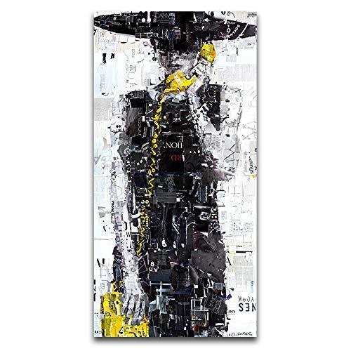 Gymqian Imagen de Arte de Pared de Chica Llamada Abstracta Lienzo Arte Impreso Pintura Cartel e Impresiones para niñas Dormitorio Sala de Estar decoración del hogar Mural 70x140cm sin Marco