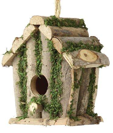 Square Log Hut - Bird Nesting Box