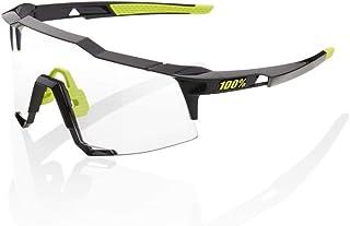 100 Percent - SPEEDCRAFT-Gloss Black-PHOTOCHROMIC Lens Gafas, Hombres, Negro-Cristal Transparente, Mediano