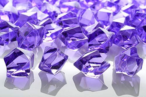 PaperLanternStore.com Lavender Colored Gemstones Acrylic Crystal Wedding Table Confetti Vase Filler (3/4 lb Bag)