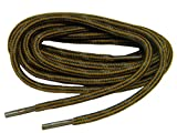 GREATLACES 2 Pair Pack Round Tan Rust w/Black proTOUGH Heavy Duty 6mm Thick 3/16 Kevlar Reinforced Boot Laces Shoelaces
