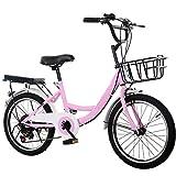 Mädchen Kinderfahrrad Rosa Mädchenfahrrad – 20 Zoll Kinderfahrrad Jungen Mädchen Jungenfahrrad für Jungen 7 Gang Kinderrad Rosa/Blau/Weiß Fahrrad für Kinder(Rosa)