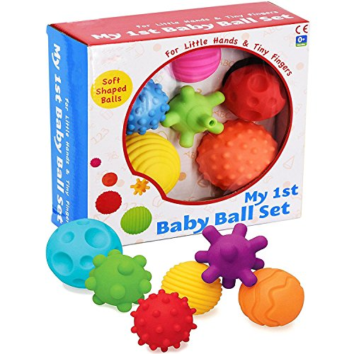 A to Z 61017 My First Baby Multi Textured Sensory Soft Balls, multicolor