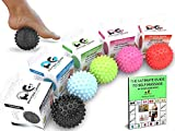 Premium Massage Balls, Firm Spiky Roller, Deep Tissue Trigger Point, Foot Massager, Mobility, Acupressure, Plantar Fasciitis, Reflexology, Therapy & Myofascial Release, (SPIKY BLACK)