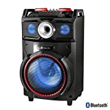 NGS Technology Wild Dance - Altavoz de 10' (300w, woofer usb, sd, Bluetooth, radio FM) negro y rojo