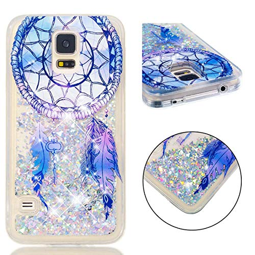 Samsung Galaxy S7 Hülle, SHUYIT Samsung Galaxy S7 Glitzer Flüssig Hülle TPU Tasche Bling Schutzhülle Funkeln Quicksand Case Cover Schale Kratzfest Bumper Stoßfeste TPU Handyhülle Traumfänger