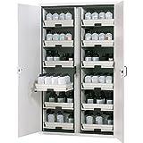 asecos 571013b - Banco de trabajo deslizante para armarios (2 estantes), diseño de ácidos y bases, SL 60.110