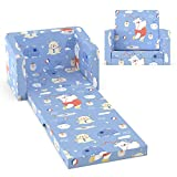 Kids Couch Fold Out, Homasen 2 in 1 Kids Sofa Couch Bed Flip Open Sofa for Kids Girls Boys Bedroom Classroom Playroom