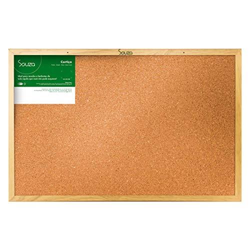 Quadro de Cortiça Standard, 90cm X 60cm, Mold. Pinus Luxo - Souza & Cia (Ref: 3294)