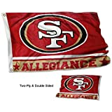 GUOQ WinCraft San Francisco 49ers Doppelseitige Allegiance-Flagge