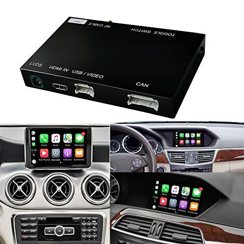 Wireless CarPlay Android Auto perMercedes Benz A Classe W176 B W246 CLA GLA Classe C W204 E Classe W212 C207 CLS W218 ML GL GLK SLK R72 G W463, con MirrorLink Autolink Airplay Funzione NTG4,5/4.7 Auto