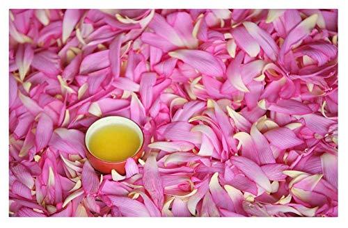 XZJXGZ Puzzel for Volwassene 1000 stukjes Lotus bloemblaadjes thee 70x50cm puzzel Kinderen Educatief speelgoed DIY huisdecoratie