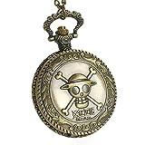 CoolChange One Piece Orologio da Tasca con Jolly Rogers dell'equipaggio del Cappello di Paglia