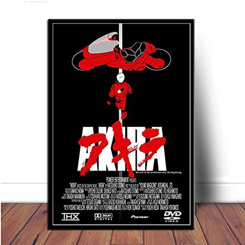 Yiwuyishi Póster e Impresiones Akira Combat Red Japan Anime Comic Book Lienzo Pintura al óleo Imágenes de Pared para la decoración de la Sala de Estar 50x70cm P-968