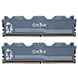 LEVEN SINBA DDR4 16GB (2Ã - 8GB) 3200MHz XMP 2.0 PC4-25600 CL16 288-Pin U-DIMM overclocking RAM módulo de Memoria de Escritorio para Juegos - Gris (SINBA4U3200172408G-8Mx2)
