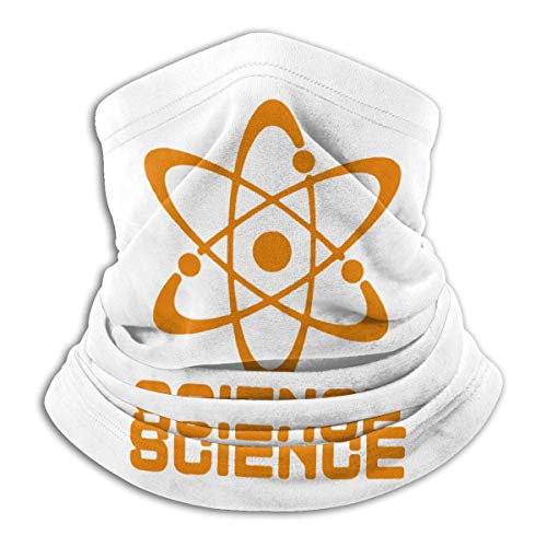 Science Atom Cuello Calentador Polaina Bufanda Cuello Tocado Clima frío Bufanda a Prueba de Viento Turbante