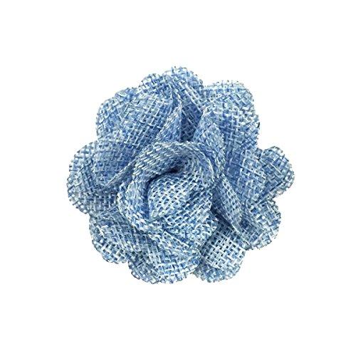 Allydrew Burlap Flower Embellishment Burlap Roses for Weddings (20pcs), Light Blue