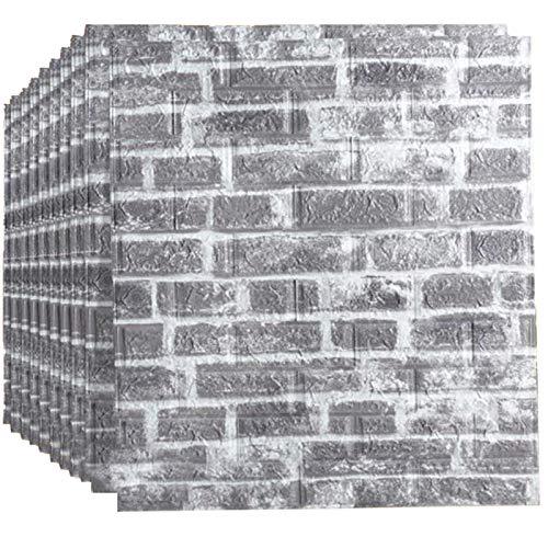 BLCVC 3D Wandaufkleber, Abnehmbarer PE Foam Wandaufkleber Selbstklebende Platte wasserdichte Tapete Für Wohnzimmer TV Wand Und Home Decor (10 Pack 58 Sq Ft),4