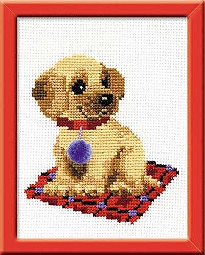 Happy Bee HB067 Kit per ricamo a punto croce, motivo: cagnolino, multicolore