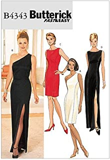 BUTTERICK PATTERNS B4343 Misses/Misses' Petite Lined Dress, Size 6-8-10-12